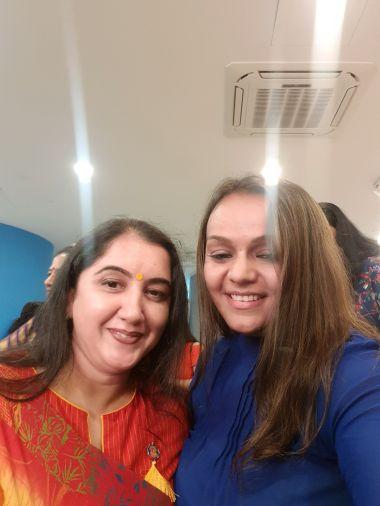 With Jasmine Khurana