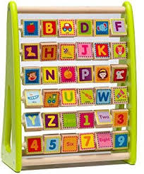 Ray s Toys Wooden Alphabet Abacus Activity Center For Toddlers ...
